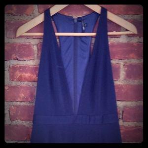 navy blue pencil midi dress